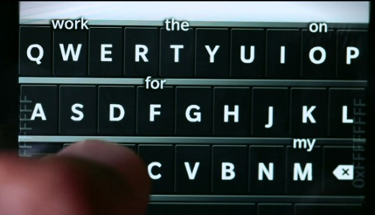 BlackBerry 10 predictive keyboard