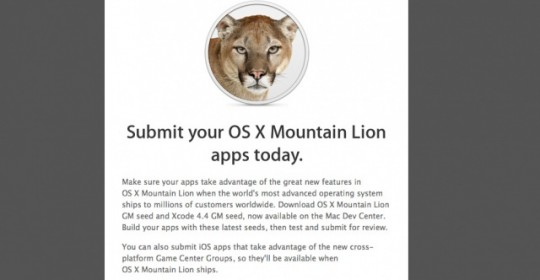 Submit Mountain Lion apps