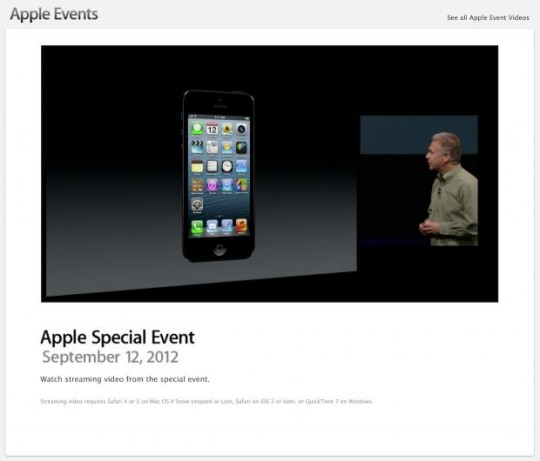 Apple iPhone 5 event