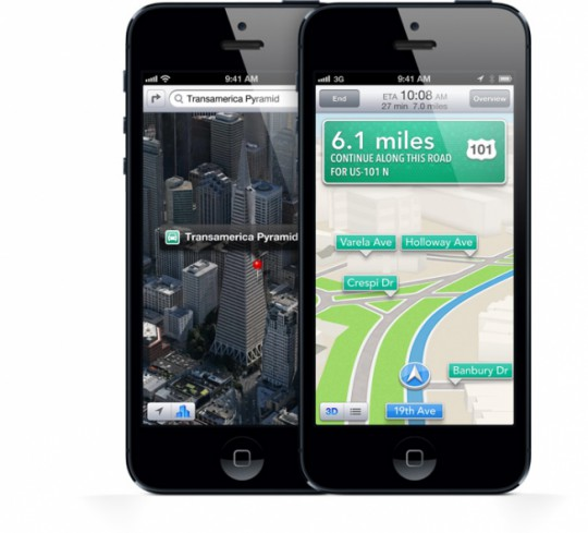 iPhone 5 Maps