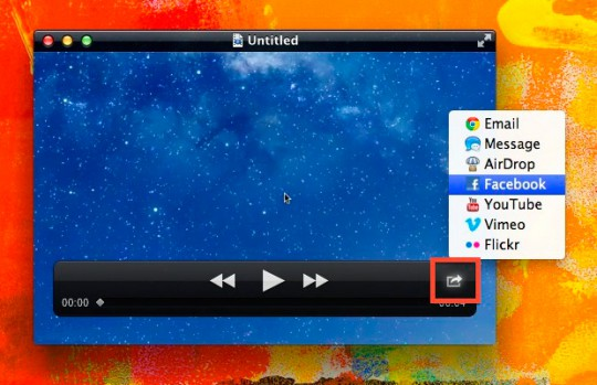 Share video to Facebook in Mountain Lion