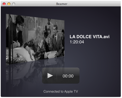 Beamer app Apple TV