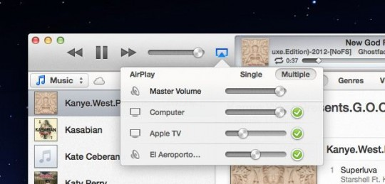 iTunes 11 Airplay multiple volume control