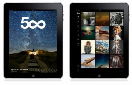 500px for iPad