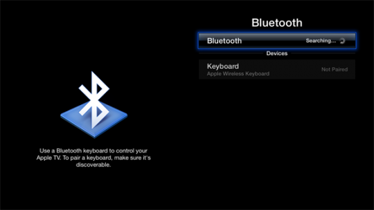 Apple TV Bluetooth keyboard