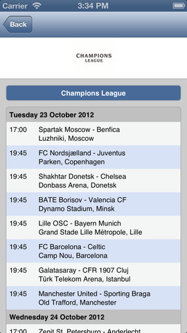 Champions League for iOS