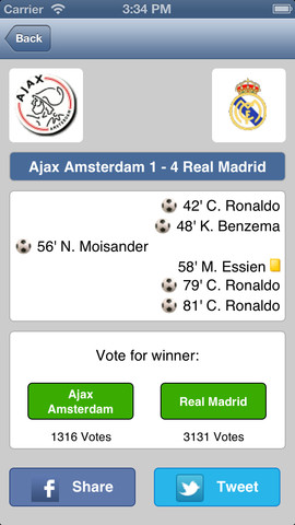 Champions League for iPhone