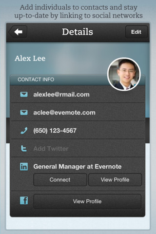 Evernote Hello for iOS