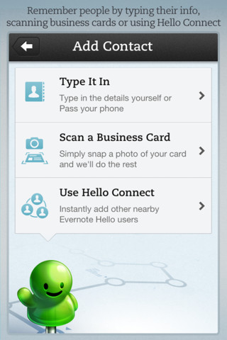 Evernote Hello for iPhone