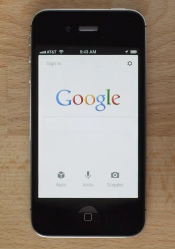 Google search iOS