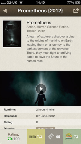 Moviegram for iPhone