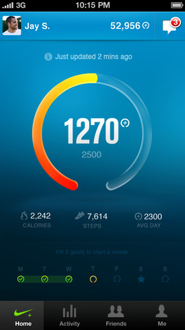 Nike+ FuelBand iPhone app
