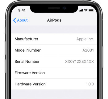 find-airpods-serial-number-iphone-settings